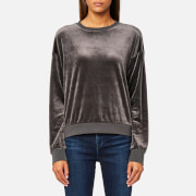 Juicy Couture Women's Track Light Weight Velour Pullover - Top Hat