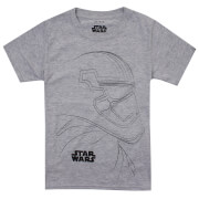 Star Wars Boys' The Last Jedi Trooper Outline T-Shirt - Light Grey Marl