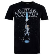 Star Wars Men's The Last Jedi Rey Logo T-Shirt - Black