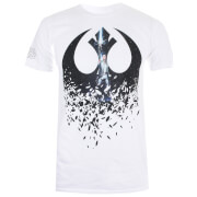Star Wars Men's The Last Jedi Rey Icon T-Shirt - White