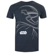 Star Wars Men's The Last Jedi Trooper Outline T-Shirt - Dark Heather