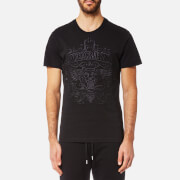 Versace Jeans Men's Embroidered Tiger Logo T-Shirt - Nero