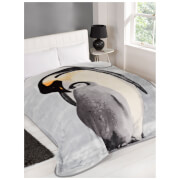 Dreamscene Penguin Faux Fur Throw (150 x 200cm)
