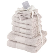 Highams 100% Cotton 10 Piece Towel Bale (500GSM) - Natural