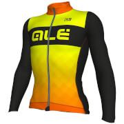 Alé R-EV1 Rumbles Winter Jersey - Black/Orange/Yellow