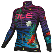 Alé Women's PRR 2.0 Flowers Winter Jersey - Turquoise/Pink