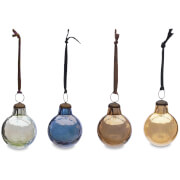 Nkuku Alura Round Bauble - Multi Colours (Set of 4) - Small