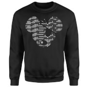 Danger Mouse Word Face Sweatshirt - Black