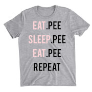 Eat Sleep Eat Repeat Grey T-Shirt