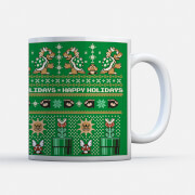 Nintendo Super Mario Happy Holidays Bad Guys Mug