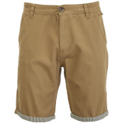 Brave Soul Men's Hansen Tick Chino Shorts - Stone