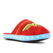 DC Comics Women's Wonder Woman Slippers - Red