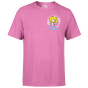 Nintendo® Super Mario Peach Merry Christmas Pocket Wreath T-Shirt - Pink