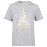 Nintendo® White Christmas Happy Holidays T-Shirt - Grau