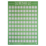 100 Places Bucket List Poster