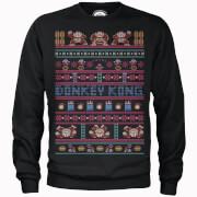 Nintendo® Donkey Kong Retro Weihnachtspullover - Schwarz
