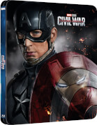 The First Avenger: Civil War 3D (Inklusive 2D) - Zavvi UK Exklusives Lenticular Edition Steelbook