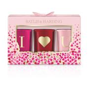 Baylis & Harding Rose Prosecco 3 Candle Set