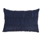 Bloomingville Fringe Detail Cushion - Blue