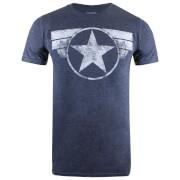 T-Shirt Homme Captain America Marvel - Bleu Marine