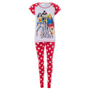 DC Comics Women's Superheroes Pyjamas - Red