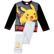 Pokemon Boys' Pikachu Pyjamas - Black