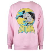 Sweat Femme DC Comics Batman Rétro - Rose Clair
