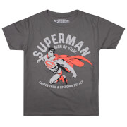 DC Comics Boys' Faster T-Shirt - Charcoal