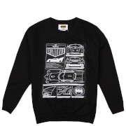 Sweat Enfant Batmobile Schéma - DC Comics - Noir