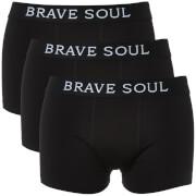 Pack de 3 bóxers Brave Soul Luke - Hombre - Negro