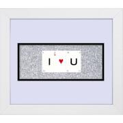 Cadre I Love U - Playing Card Co (30 cm x 25 cm)