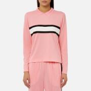Ganni Women's Dubois Polo Top - Sea Pink