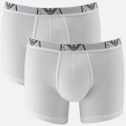 Emporio Armani Men's 2 Pack Cotton Stretch Boxer Shorts - Bianco