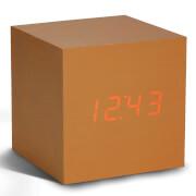 Gingko Cube Click Clock - Copper