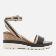 See By Chloé Women's Leather Wedged Sandals - Black