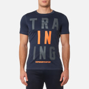 Superdry Sport Men's Sport Active Training Graphic T-Shirt - Navy Marl