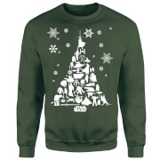 Star Wars Character Christmas Tree Green Christmas Sweatshirt