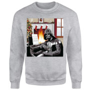 Star Wars Darth Vader Piano Player Grey Christmas Sweatshirt