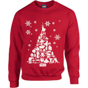 Star Wars Character Christmas Tree Red Christmas Sweatshirt