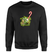 Star Wars Candy Cane Yoda Black Christmas Sweatshirt