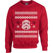Star Wars Christmas Stormtrooper Knit Red Christmas Sweatshirt
