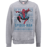 Sweat Homme/Femme Saut Spider-Man Marvel Comics - Gris