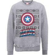 Sweat Homme Marvel Comics Captain America - Marvel - Gris