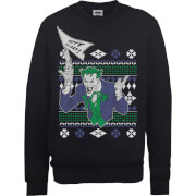Sweat Homme Le Joker Happy Holiday - DC Comics Le Joker Happy Holiday - Noir