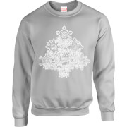 Marvel Comics Marvel Shields Christmas Tree Grey Christmas Sweatshirt