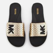 MICHAEL MICHAEL KORS Women's MK Slide Sandals - Pale Gold