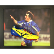 Gianfranco Zola Signed Boot in Domed Frame
