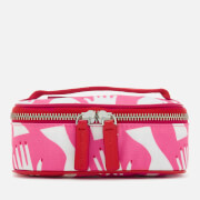 Lulu Guinness Women's Hug Print Mini Vanity Case - Peony/Nude Rose