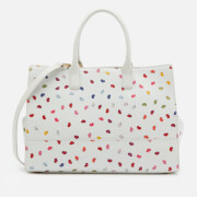 Lulu Guinness Women's Daphne Confetti Lip Print Tote Bag - Pale Grey/Multi