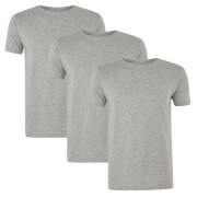 Native Shore Men's Essential 3 Pack T-Shirt - Light Grey Marl